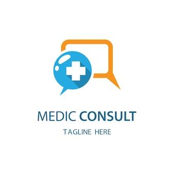 Medic konsultieren logo bilder illustration