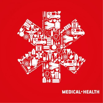 Medical cross set symbol medizinische