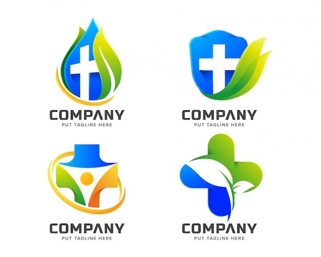Medical health logo für unternehmen