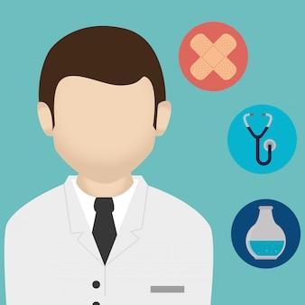 Medical healthcare charakter und symbole