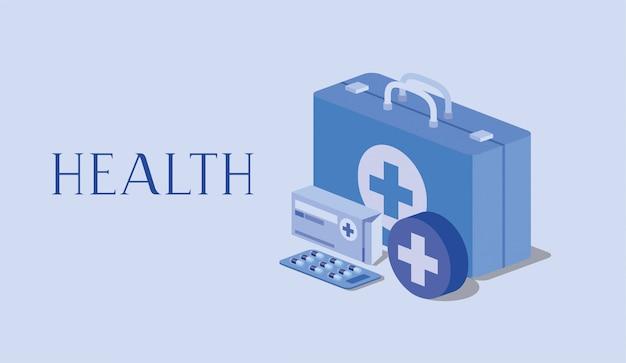Medical kit medizin pillen box