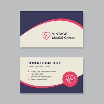 Medical & pharmacy visitenkarte design