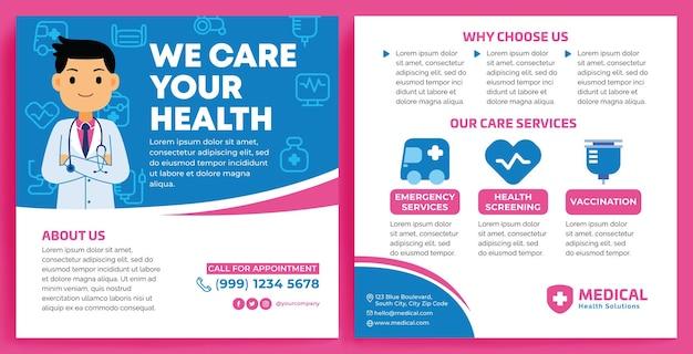 Medical promotion feed instagram im flat design style