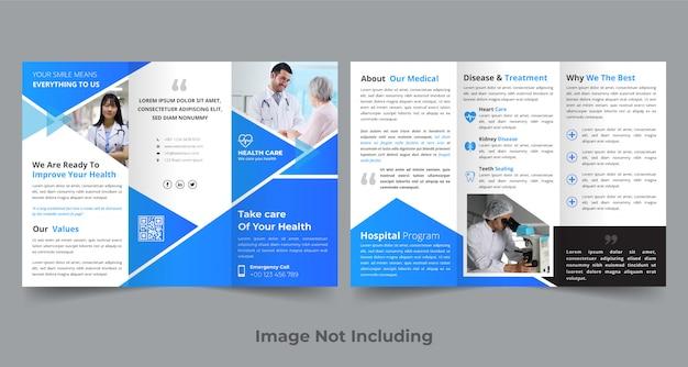 Medical trifold broschüre design-vorlage