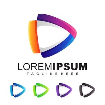 Medien logo design illustration