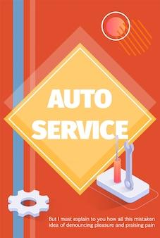 Medien- oder druckbares werbeplakat für den automatischen service