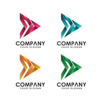 Medien spielen logo-sammlung