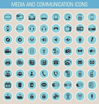 Medien und kommunikation symbole