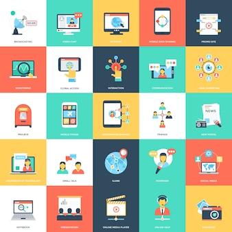 Medien und werbung illustrationen