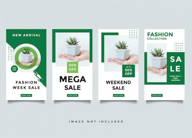 Medienbeitrags-designschablone mode instragram geschichte