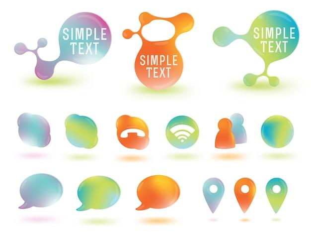 Mediensymbole des sozialen netzes