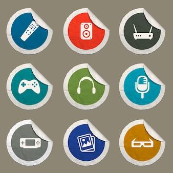 Mediensymbole für websites und benutzeroberfläche eingestellt