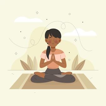 Meditation illustriert