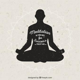 Meditation ist der schlüssel zum erfolg