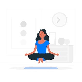 Meditation konzept illustration