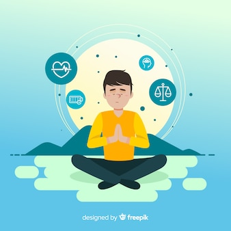 Meditation konzept illustration