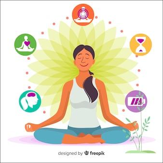Meditation konzept landing page