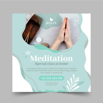 Meditation und achtsamkeit im quadrat flyer