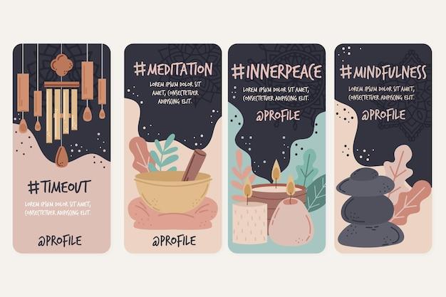 Meditation und achtsamkeit instagram geschichten