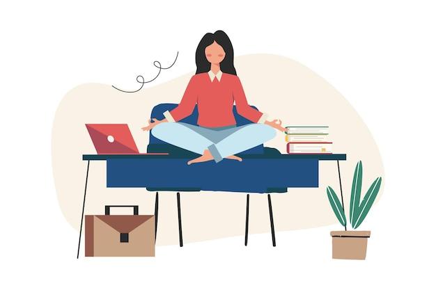 Meditation während der arbeitszeit für körper, geist und emotionen
