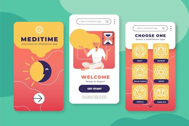 Meditations-app für einen entspannten körper und geist