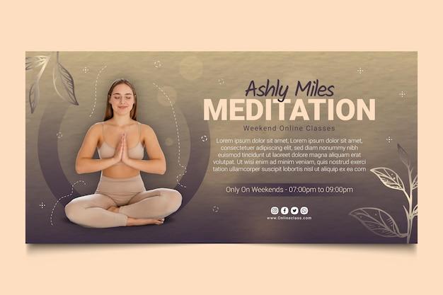 Meditations- und achtsamkeitsbanner-vorlage