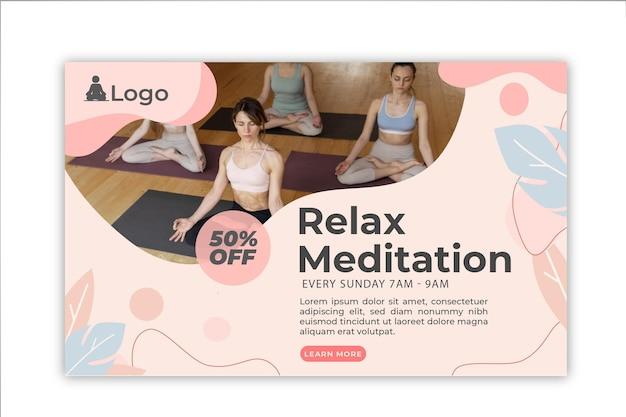 Meditations- und achtsamkeitsbanner
