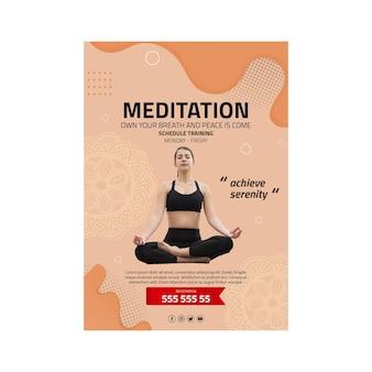 Meditations- und achtsamkeitsplakat