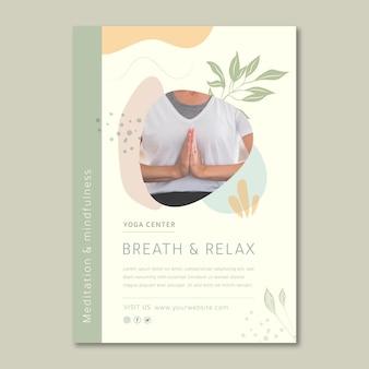 Meditations- und achtsamkeitsplakatschablone