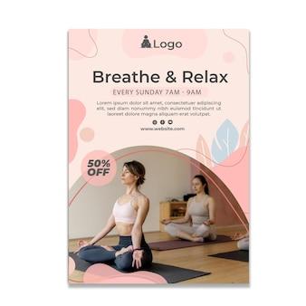 Meditations- und achtsamkeitsposter