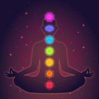 Meditations- und chakrenkonzept