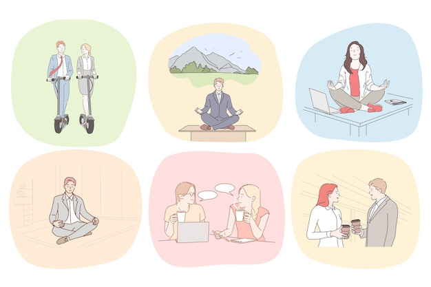 Meditations- und entspannungsillustration
