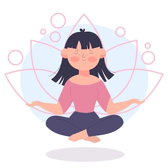 Meditationsillustrationskonzept