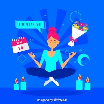 Meditationskonzept für landingpage