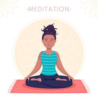 Meditationskonzept mit frau