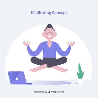 Meditationskonzept mit geschäftsfrau