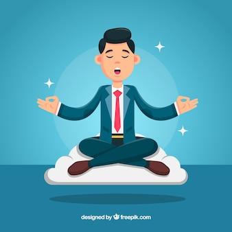 Meditationskonzept mit Geschäftsmann