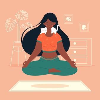 Meditationskonzeptillustration