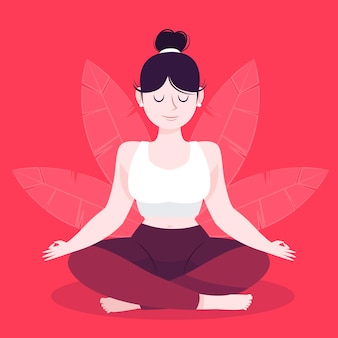 Meditationskonzeptillustration