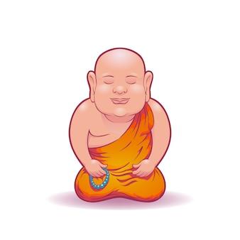 Meditierender mönch