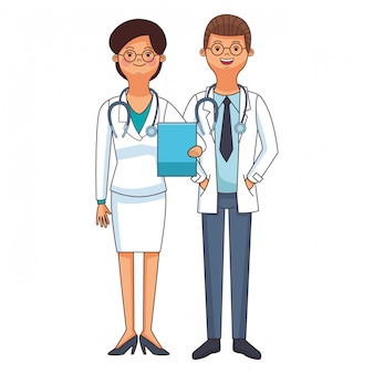 Medizin arzt paar cartoon