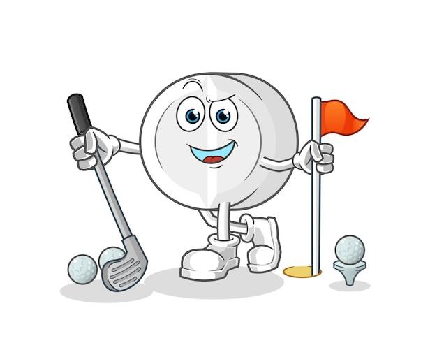 Medizin, die golfzeichentrickfigur spielt