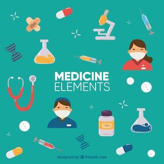 Medizin-elemente hintergrund