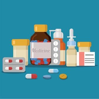 Medizin flaches design