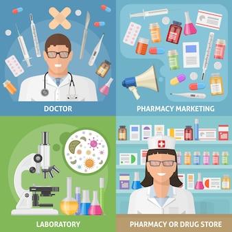 Medizin icon set