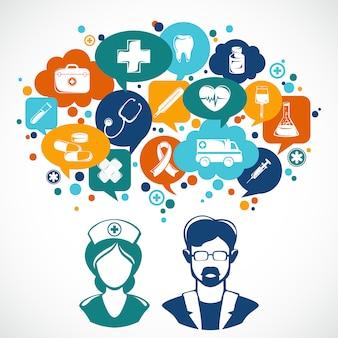 Medizin-konzept-illustration