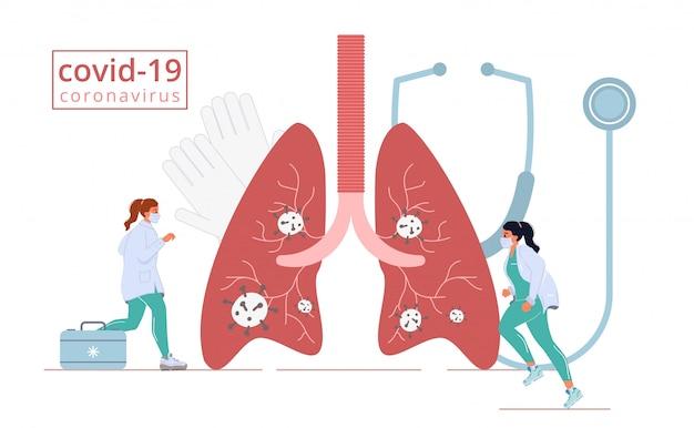 Medizin krankheit krankheit coronavirus lungenangriff