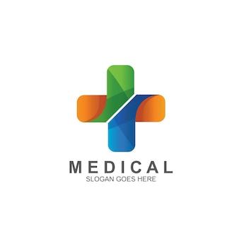 Medizin mit kreuzlogo-design