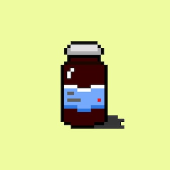 Medizin mit pixel-art-stil