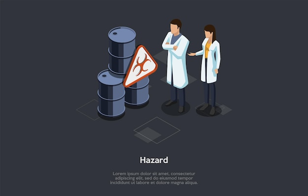 Medizin-, pharmazie- und gesundheitskonzept. gefahrenwarnsymbol. identifizierung und bewertung der biologischen gefahr. biohazard diagnose und prävention